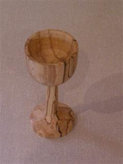 Spalted beech goblet by Michael Fryer