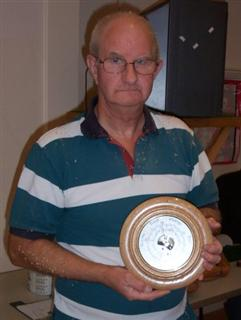 John with the finished barometer
