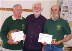 Mike Fisher and Fred Taylor receive the commended certificates