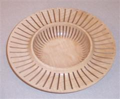 Slotted platter by David Ward