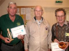 Bert Lanham and Geoff Hunt get commended certificates