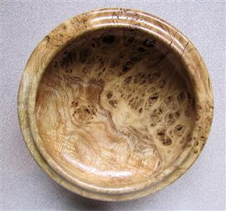 Chris Withall's commended burr oak bowl