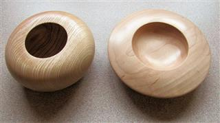 Two bowls by Paul Hunt