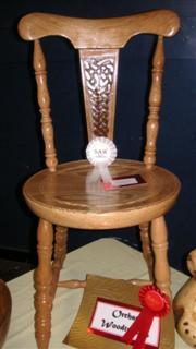 Norman's chair and his rosette